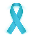 Awareness ribbon isolated on white background vector image