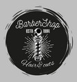 barbershop stamp concept hair cuts barber s pole vector image vector image