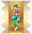 beautiful indian girl dancing vector image