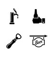 beer ale simple related icons vector image vector image