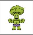 broccoli power broccoli hero for kids vegetables vector image vector image