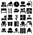 Building and Furniture Icons 7 vector image vector image