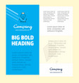 business company poster template with place for vector image vector image