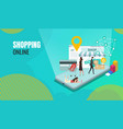 business shopping online vector image