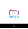 camera cam photo video shoot line outline icon vector image