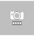 Camera computer symbol vector image vector image