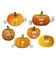 Cartoon isolated orange pumpkin vegetables vector image vector image