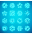 Christmas Neon Snowflakes vector image vector image