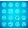christmas neon snowflakes vector image vector image