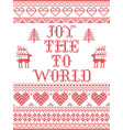 christmas pattern joy to the world seamless vector image