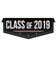 class of 2019 banner design vector image