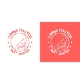 cleaning service vintage logos vector image vector image