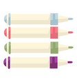 colorful markers or highlighters office or school vector image