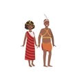Couple In African National Clothes vector image vector image