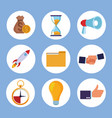 coworking elements items vector image vector image