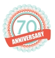 Cute Template 70 Years Anniversary with Balloons vector image