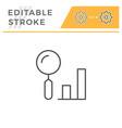 data search editable stroke line icon vector image vector image