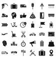 delivery icons set simple style vector image vector image