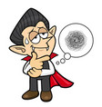 dracula character a hard problem that is occurred vector image vector image