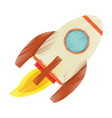 drawing rocket launch spaceship technology vector image