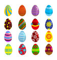 easter eggs for easter holidays design on white vector image