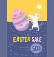 easter sale promotional banner with rat vector image