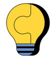 electric bulb made in form puzzle pieces vector image