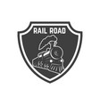 emblem template with retro train design element vector image vector image