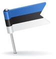 Estonian pin icon flag vector image vector image