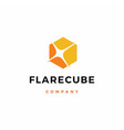 flare cube light logo icon download vector image