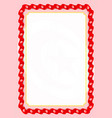 frame and border of ribbon with tunisia flag vector image vector image