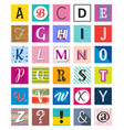 funny alphabet letters with various designs vector image