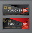 gift voucher template a diamond and a vector image vector image