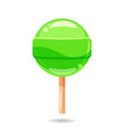 glossy sweet lollipop candy isolated vector image vector image
