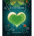 green heart on abstract background vector image vector image