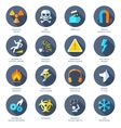 hazard icons flat vector image