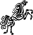 Horse in tribal style vector image vector image