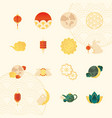 icons set mid autumn vector image vector image