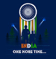 indian army soilder nation hero on pride of india vector image vector image