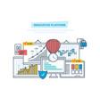 innovative platform innovation marketing vector image vector image