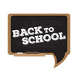 isolated blackboard back to school concept image vector image