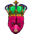 king dog on white background vector image vector image