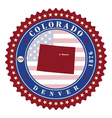 Label sticker cards of State Colorado USA vector image vector image