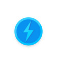 lightning bolt electric power icon vector image vector image
