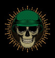 military design skull head vector image vector image
