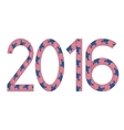 New Year 2016 made of USA flags vector image vector image