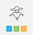 of air symbol on scarecrow vector image