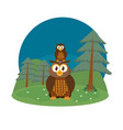 owls cute animals cartoons vector image