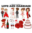 People in love and marriage vector image