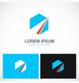 polygon shape abstract company logo vector image vector image